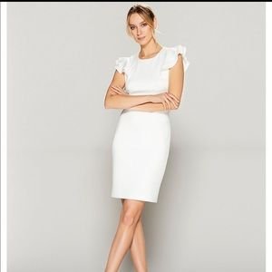 Tommy Hilfiger Ruffle Cap Sleeve Sheath Dress